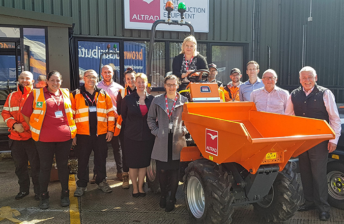 Hirebase invests in the Altrad Belle DX 1000HT Hi-Tip Dumper