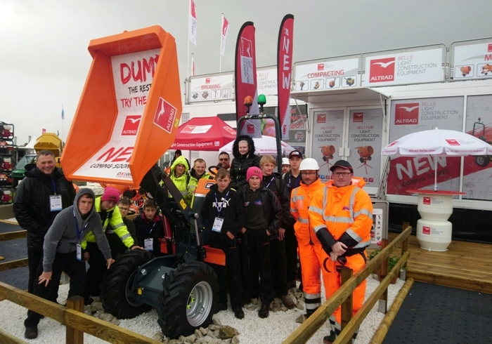 Altrad Belle invited Leek High School Construction students, to the bi-annual Plantworx construction
