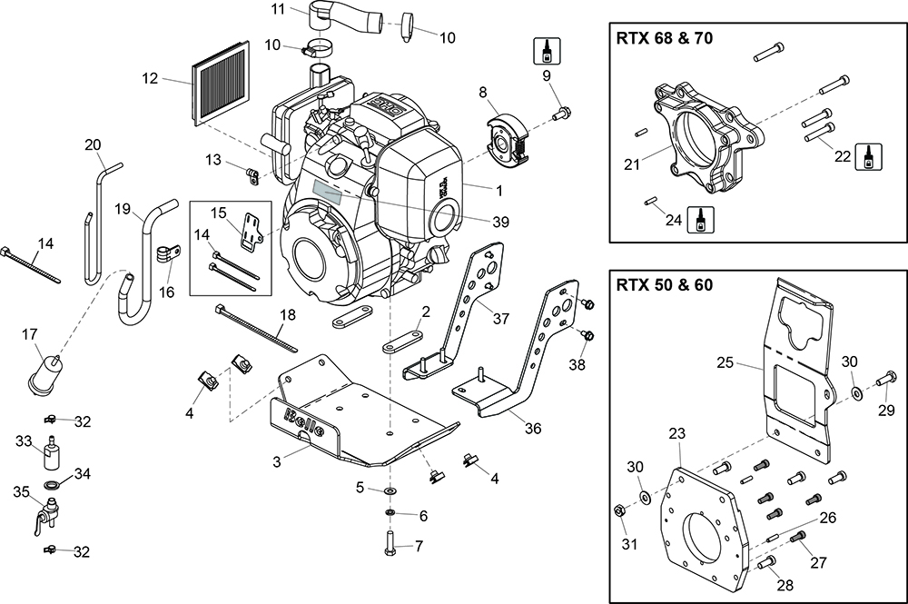 altrad belle :: belle spare parts : rtx rammers - honda ... gx 150 wiring diagram 2006 ford e 150 wiring diagram