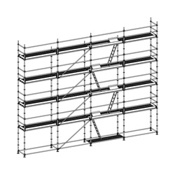 Facade Scaffold 3 Decks Complete With Access Decks