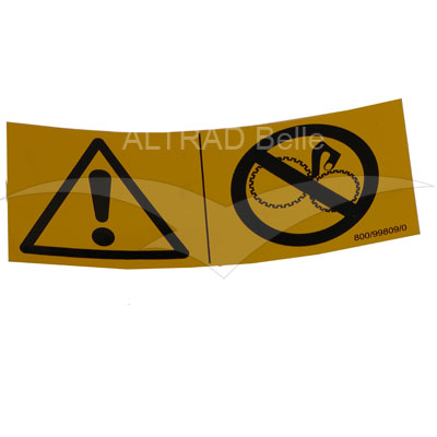 800/99809 - Danger Zone Decal Universal