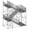 Plettac Heavy Duty Staircase Kit Complete with 4 decks podium and child proof guard rails.